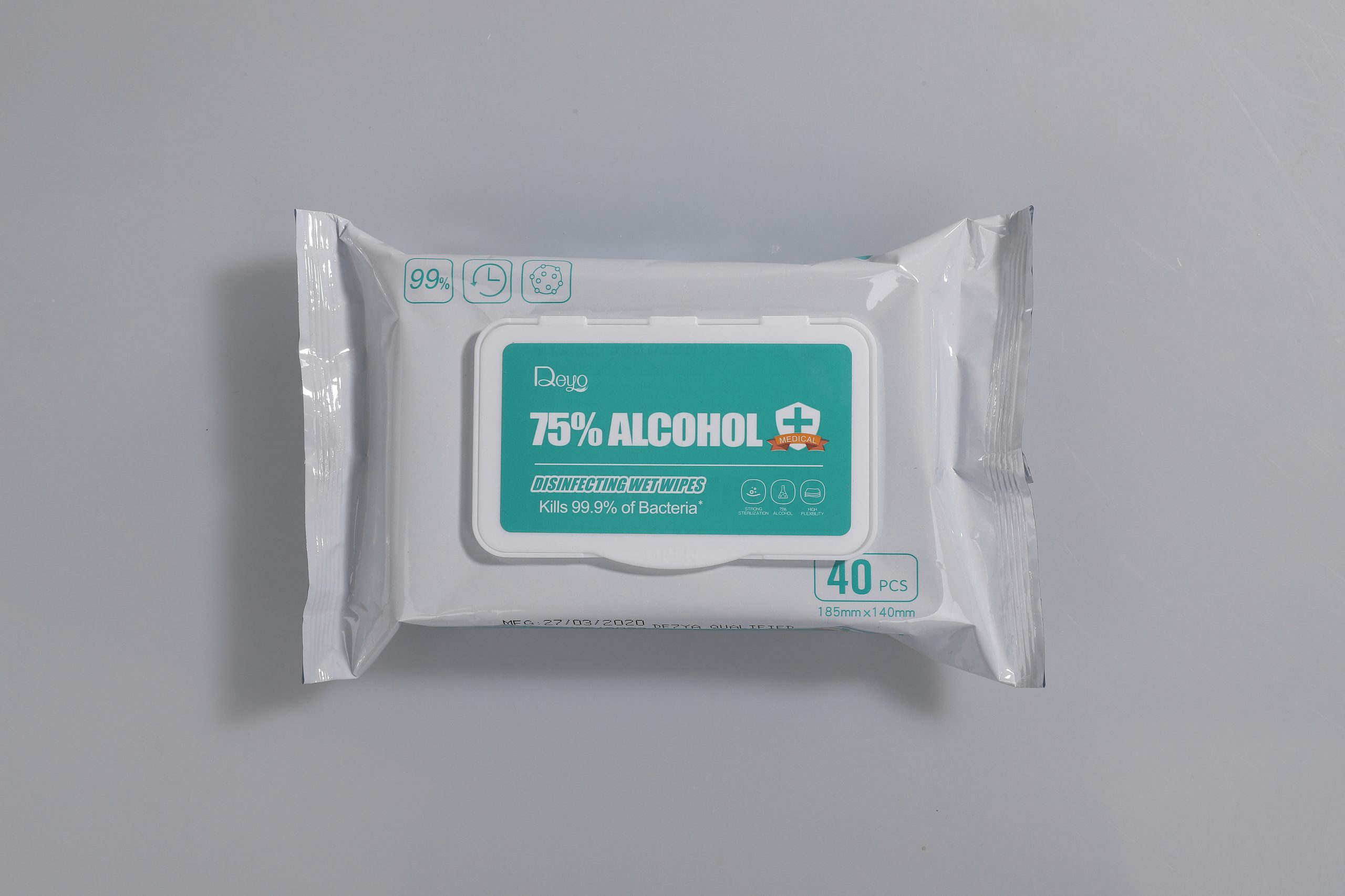 40pcs alcohol wipes