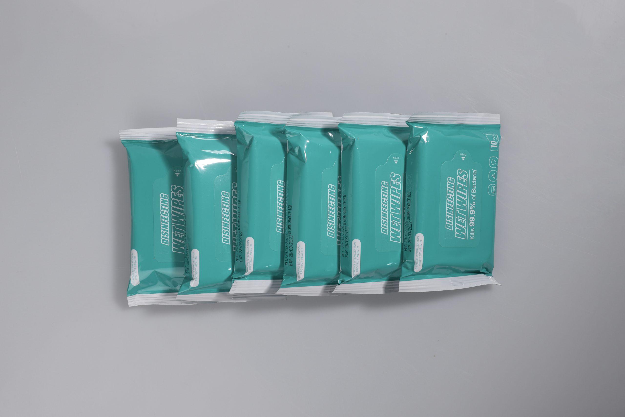 10pcs disinfectant wet wipes