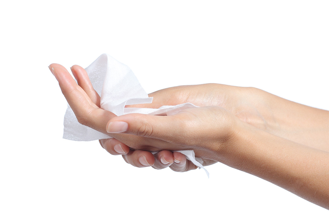 Benzalkonium chloride sanitary wipes are safe to use
