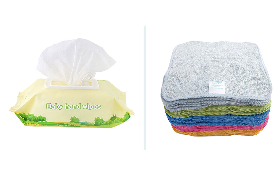 Disposable wipes and reusable wipes