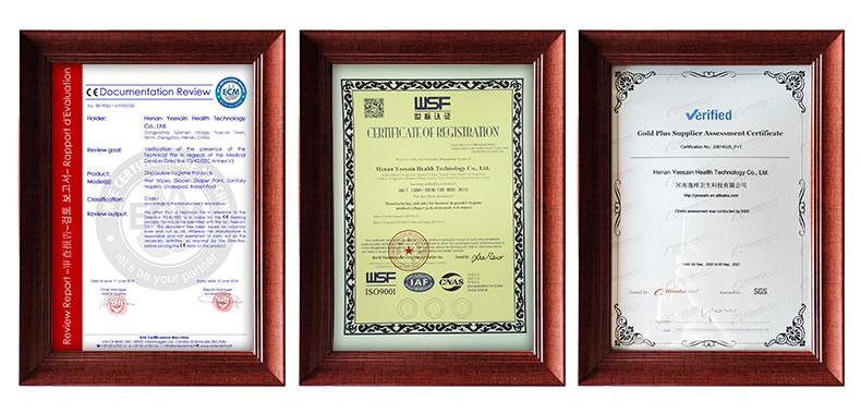 YEESAIN certifications